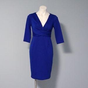 Donna Ricco royal blue midi dress size 2 NWOT